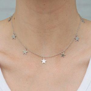 brandy melville silver stars charm choker